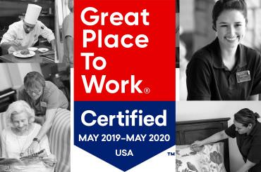 Legend Senior Living is certified as a great place to work two consecutive years.