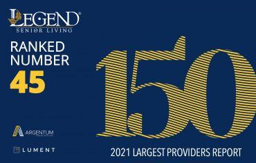 legend senior living ranked 45 out of 150 senior living providers