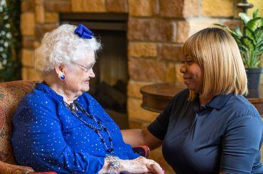 caregiver and resident together