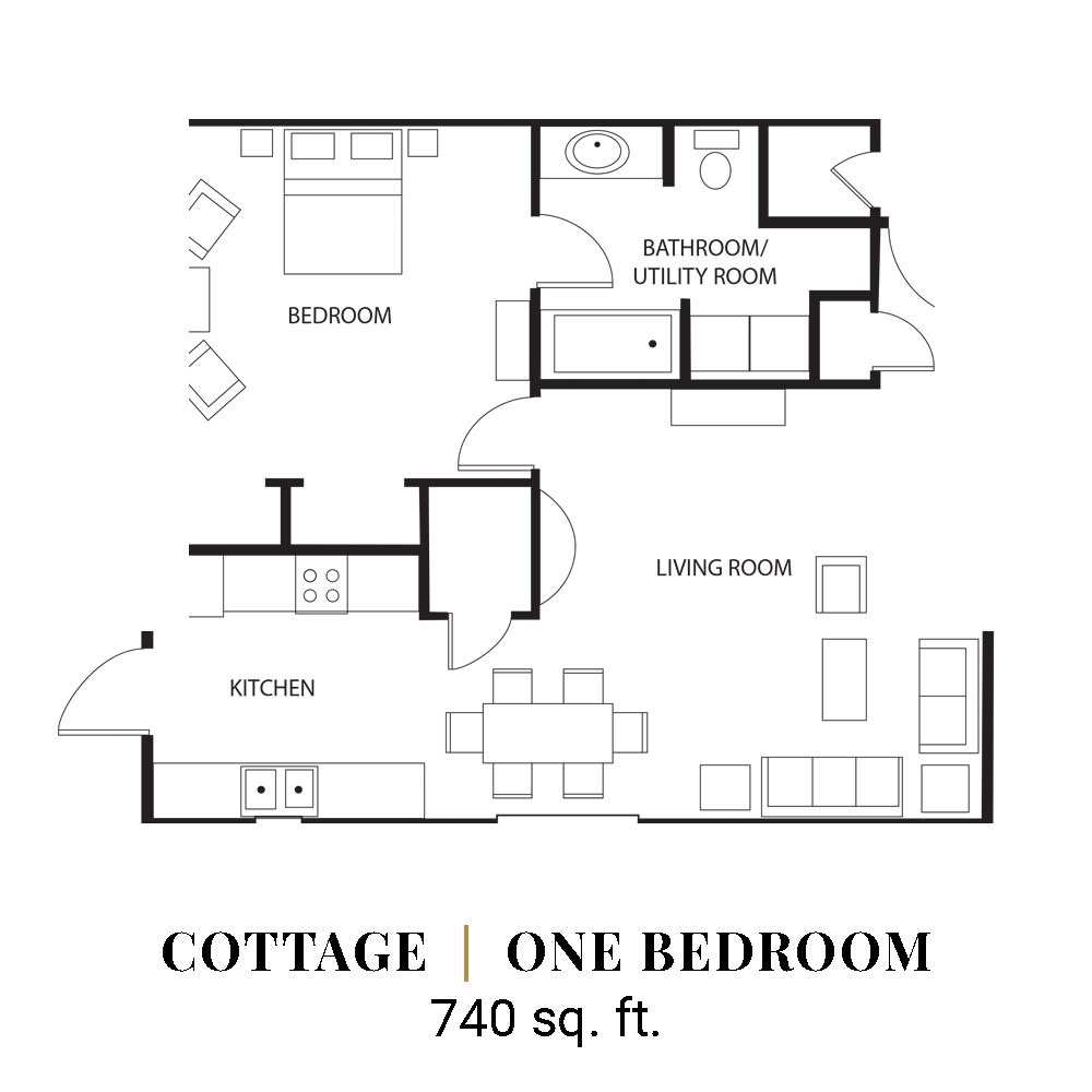 Cottage | One Bedroom
