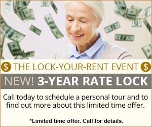 3 year rate lock at Asbury Village