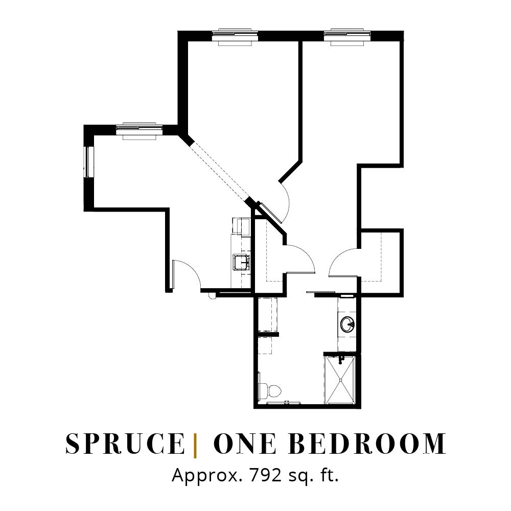 Spruce | One Bedroom