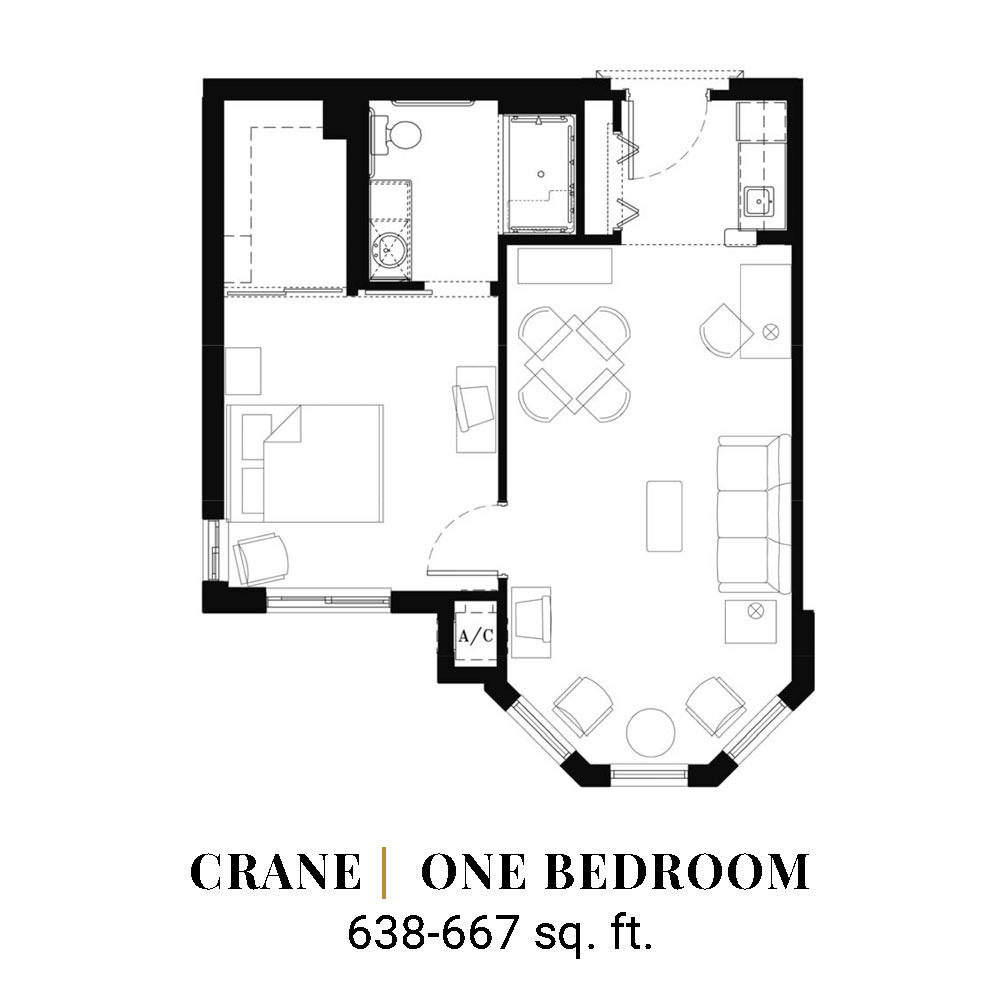 Crane | One Bedroom