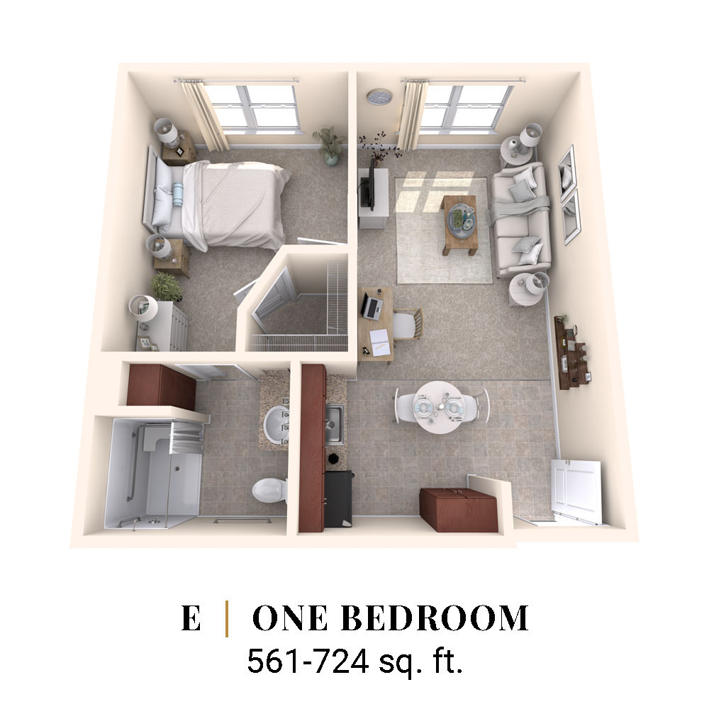 E | One Bedroom