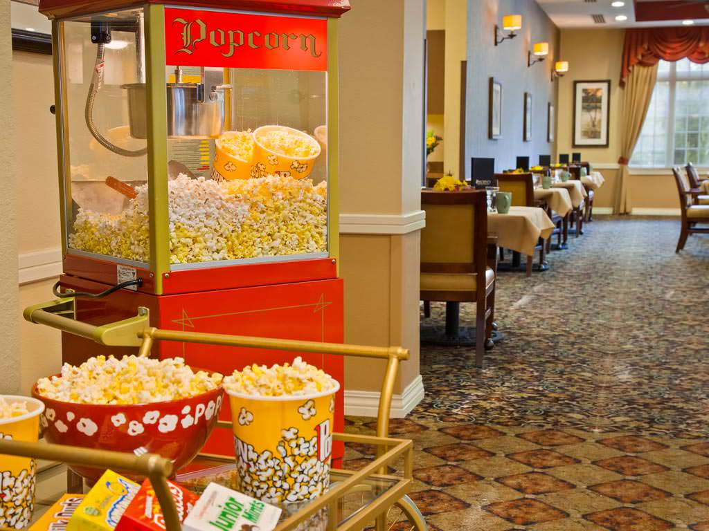 Hallway with Popcorn Machine