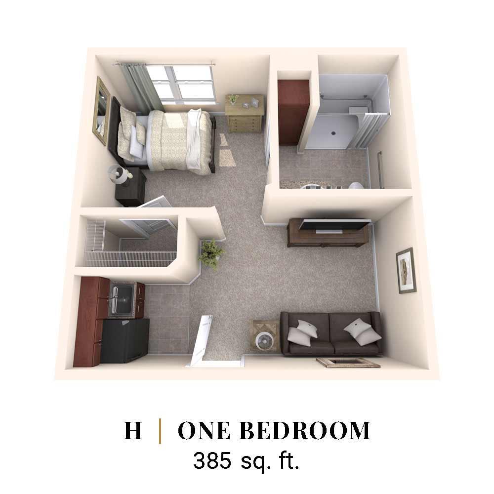 H | One Bedroom