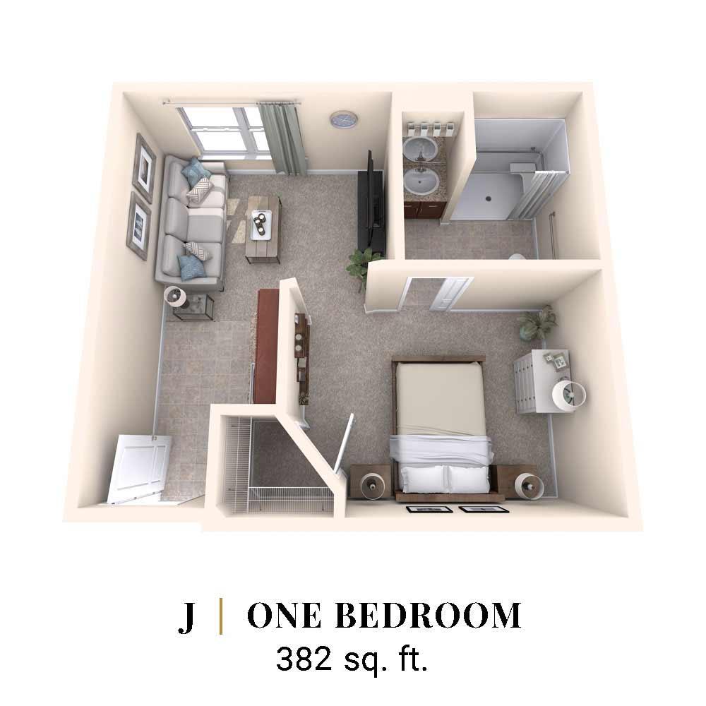 J | One Bedroom