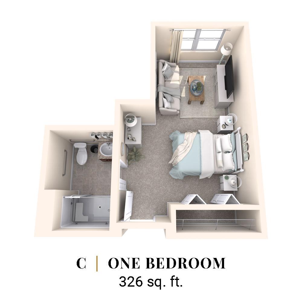 C | One Bedroom