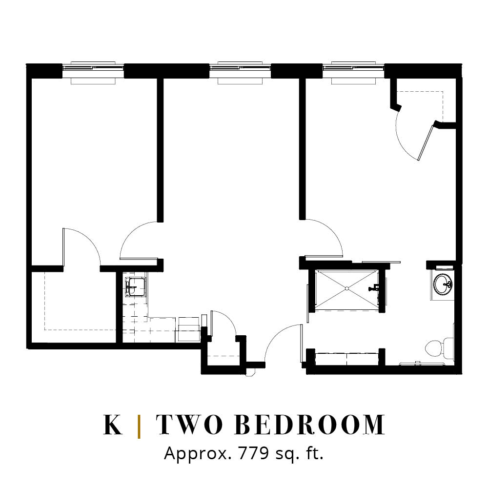 K | Two Bedroom