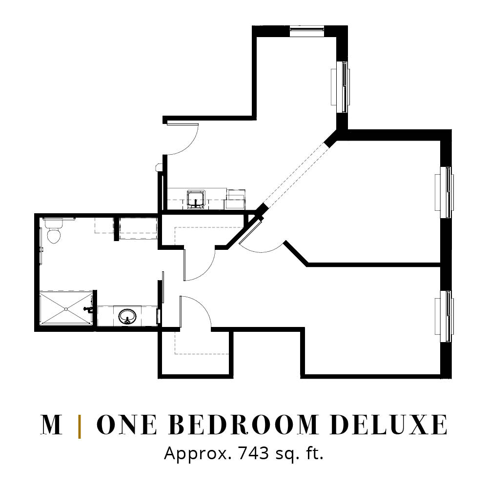 M | One Bedroom