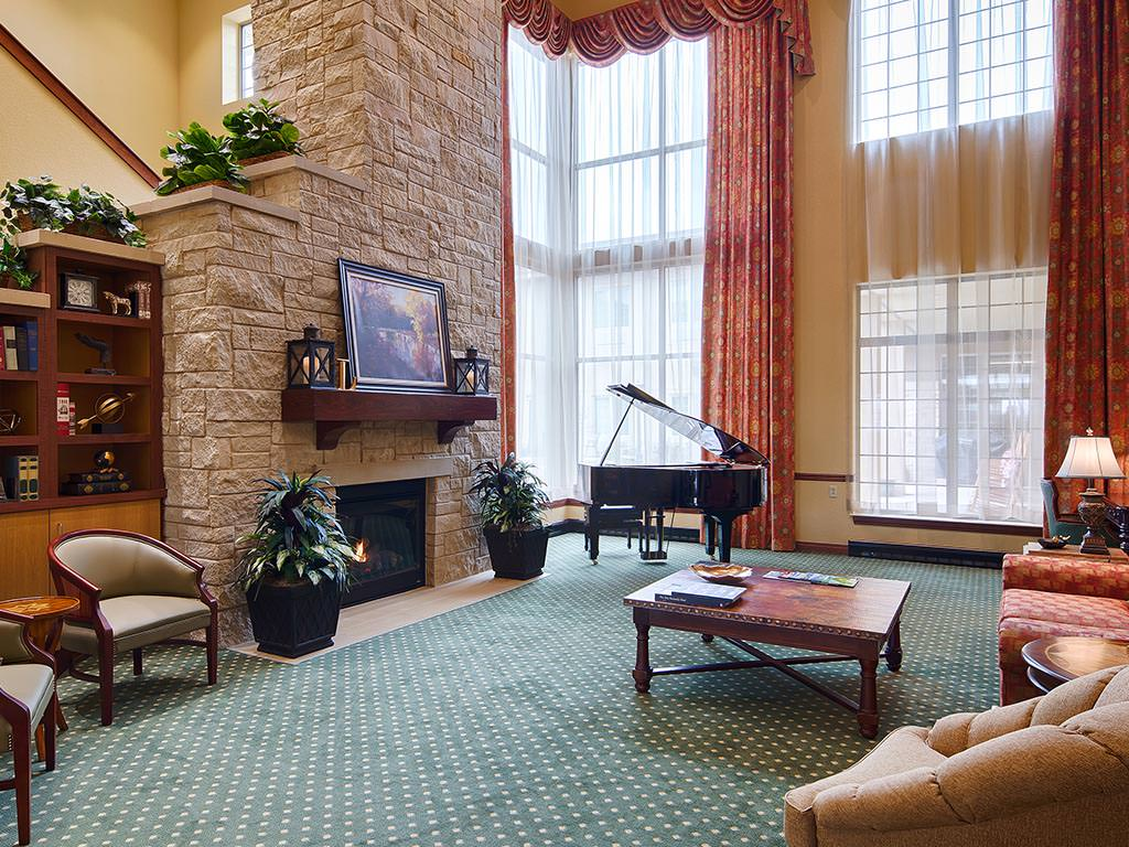 Common Room Seating and Fireplace