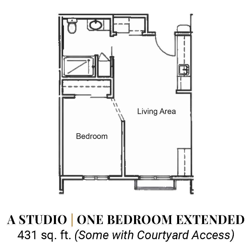 A Studio | One Bedroom Extended