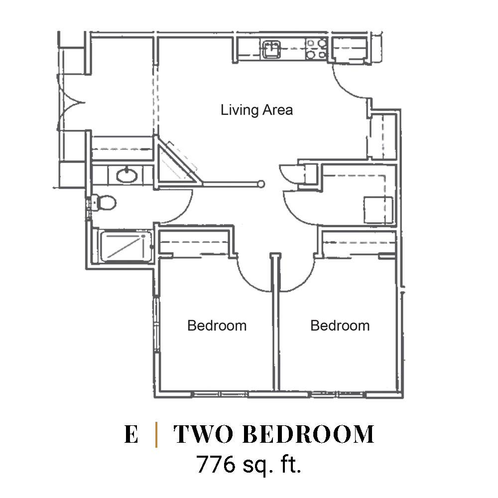 E | Two Bedroom