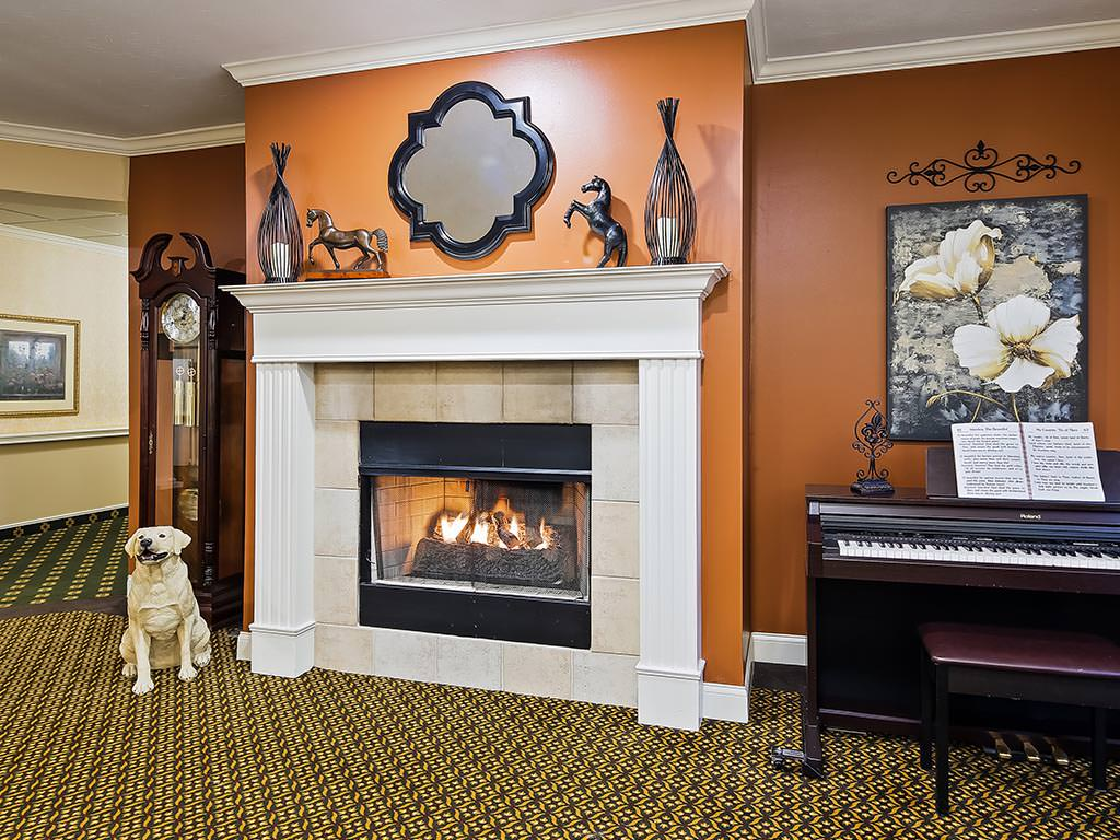 Casual Seating Area Fireplace