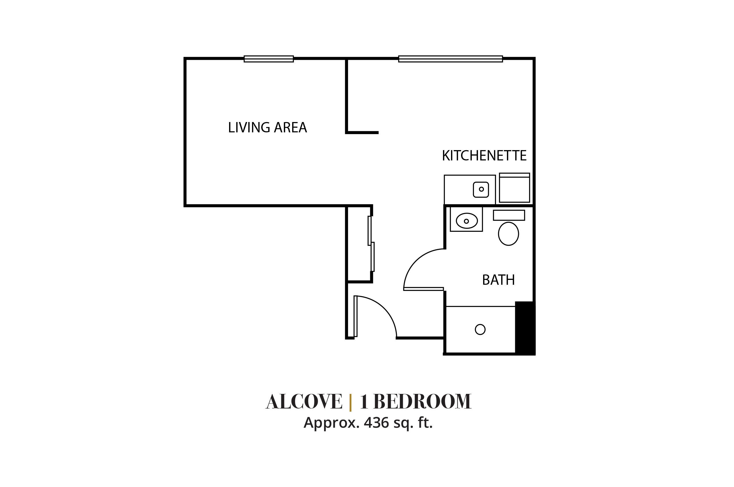 Alcove | One Bedroom