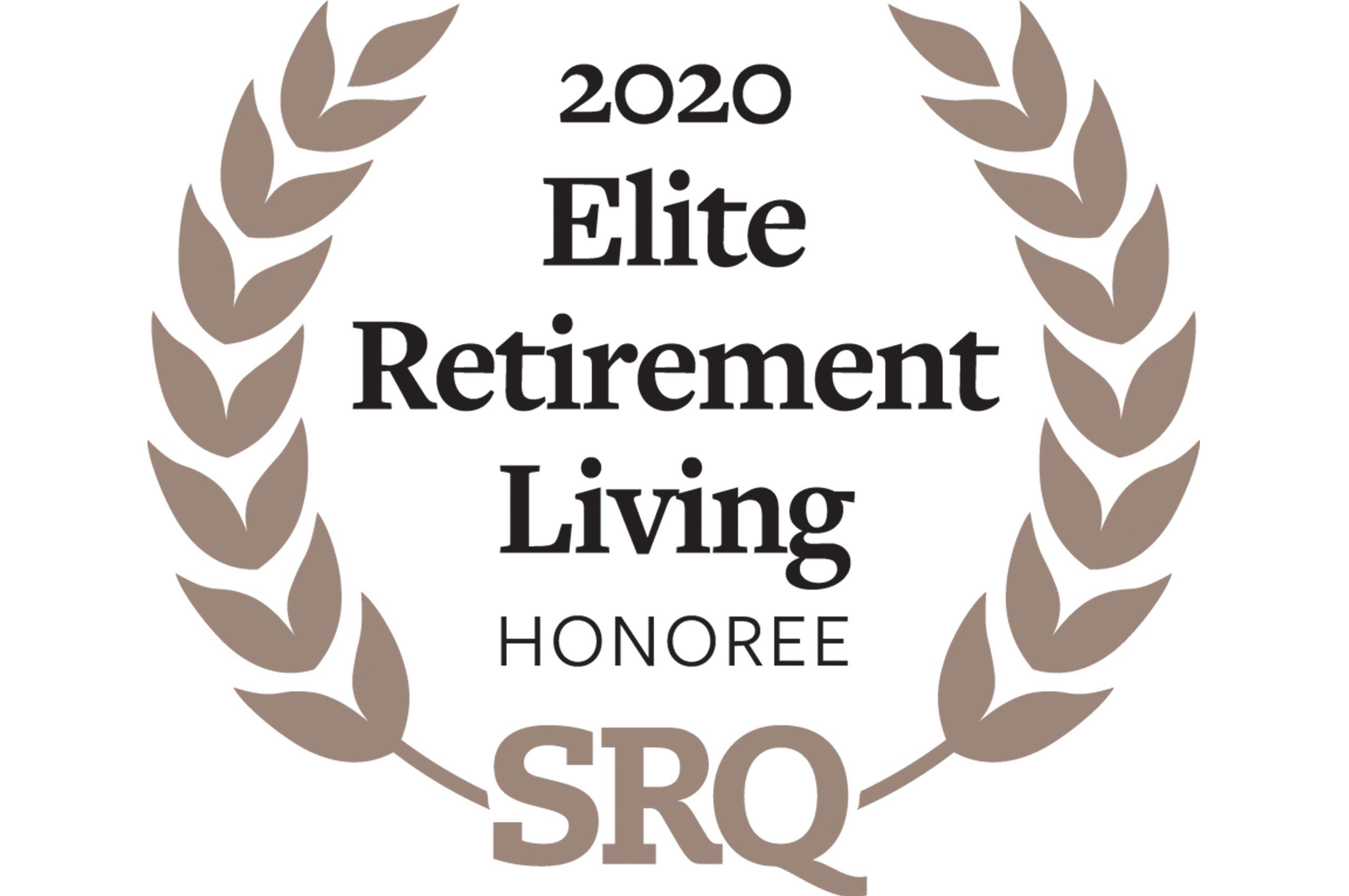 SRQ Elite Retirement Living Honoree Badge