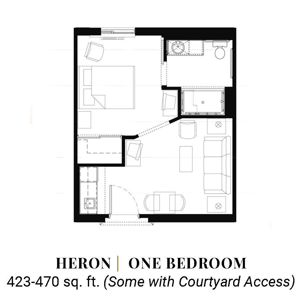 Heron | One Bedroom