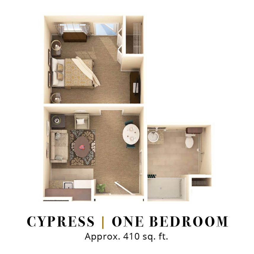 Cypress | One Bedroom