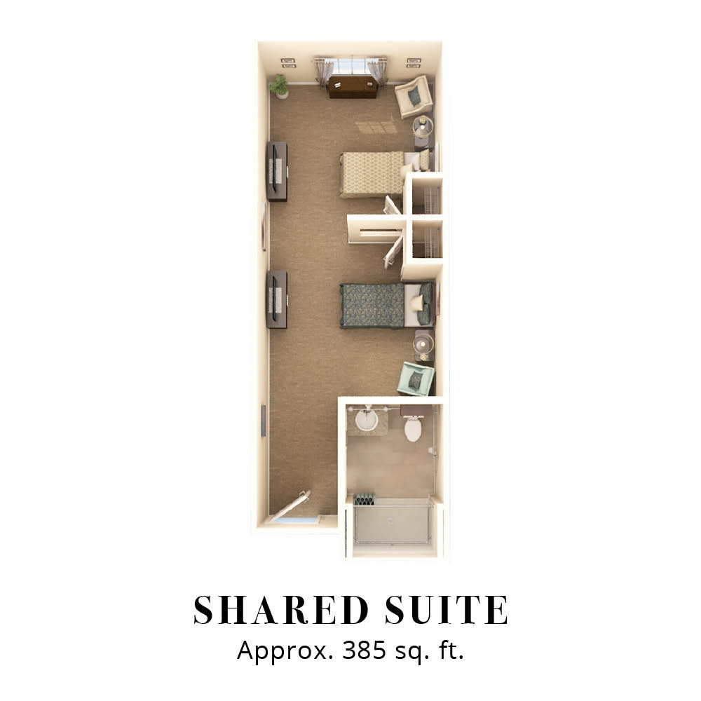 Shared Suite | Two Bedroom