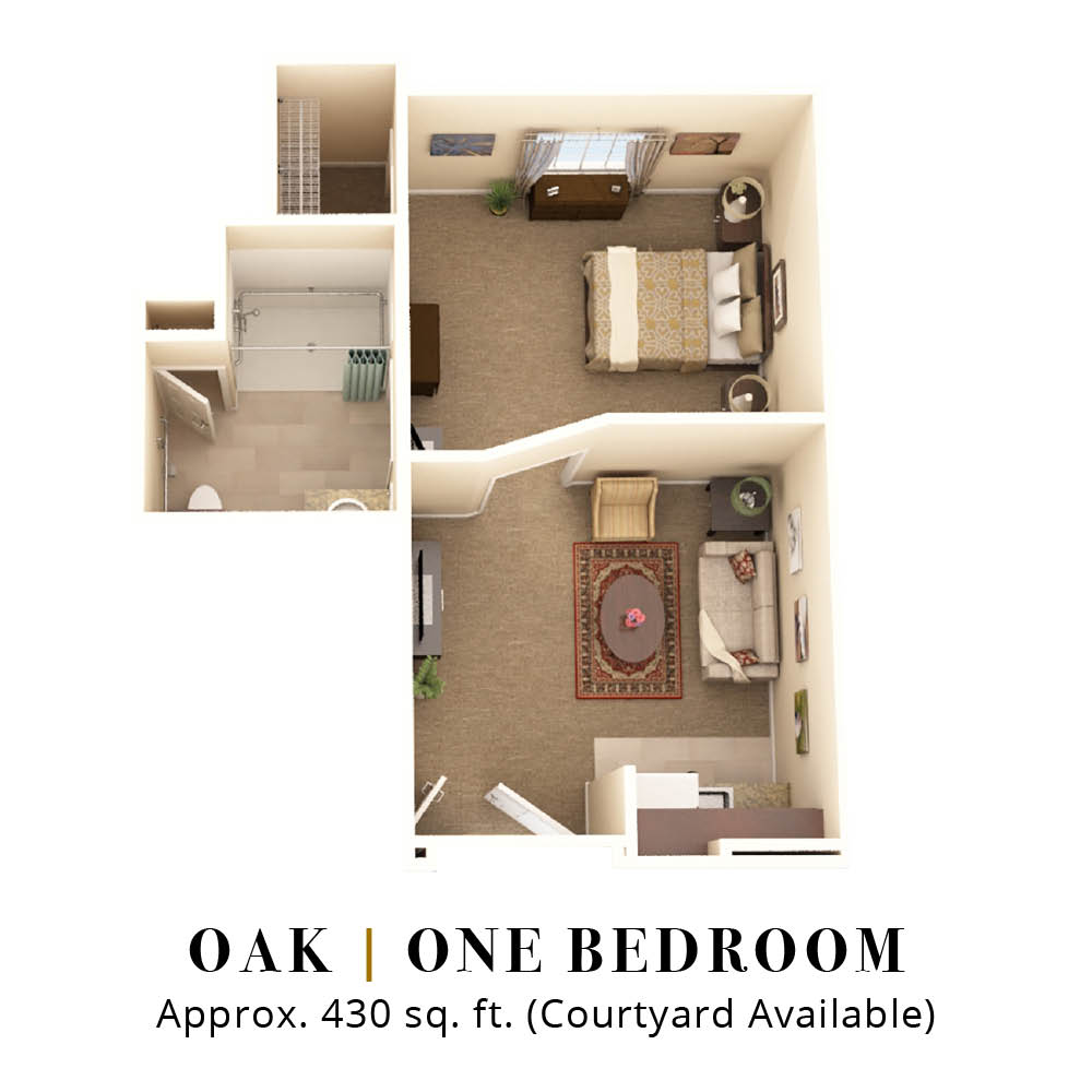 Oak | One Bedroom