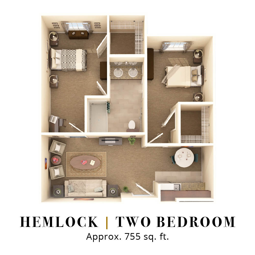 Hemlock | Two Bedroom