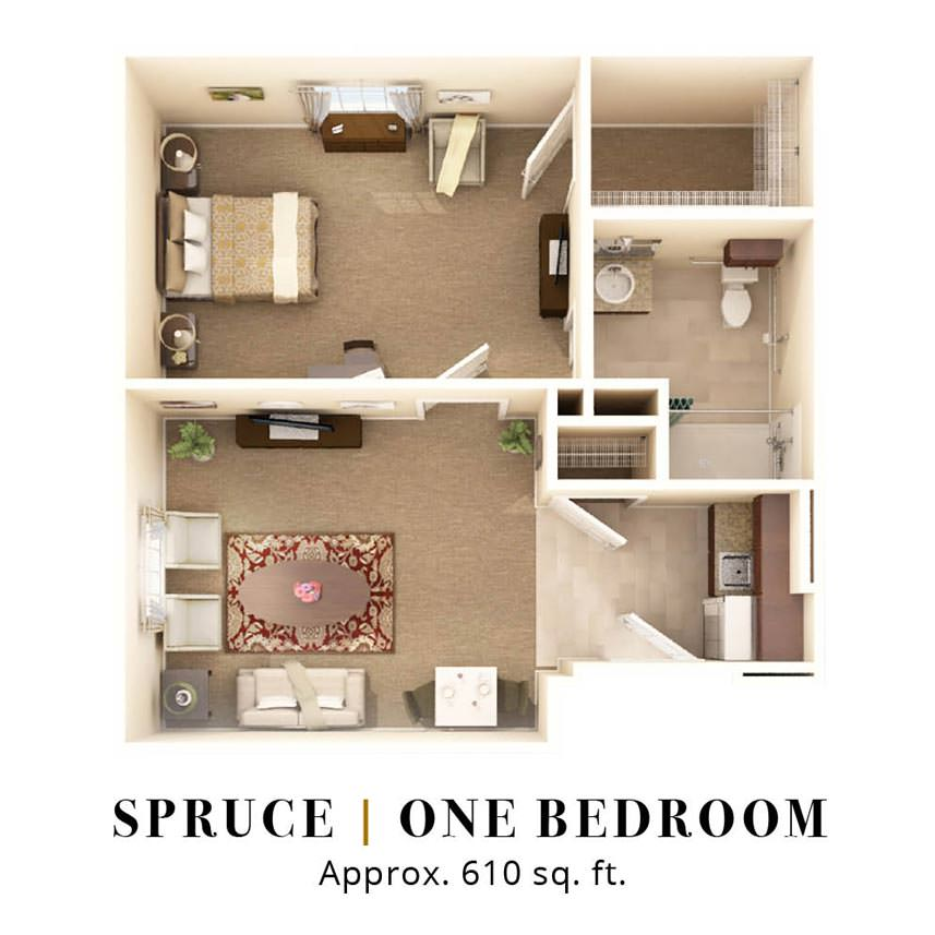 Spruce  One Bedroom