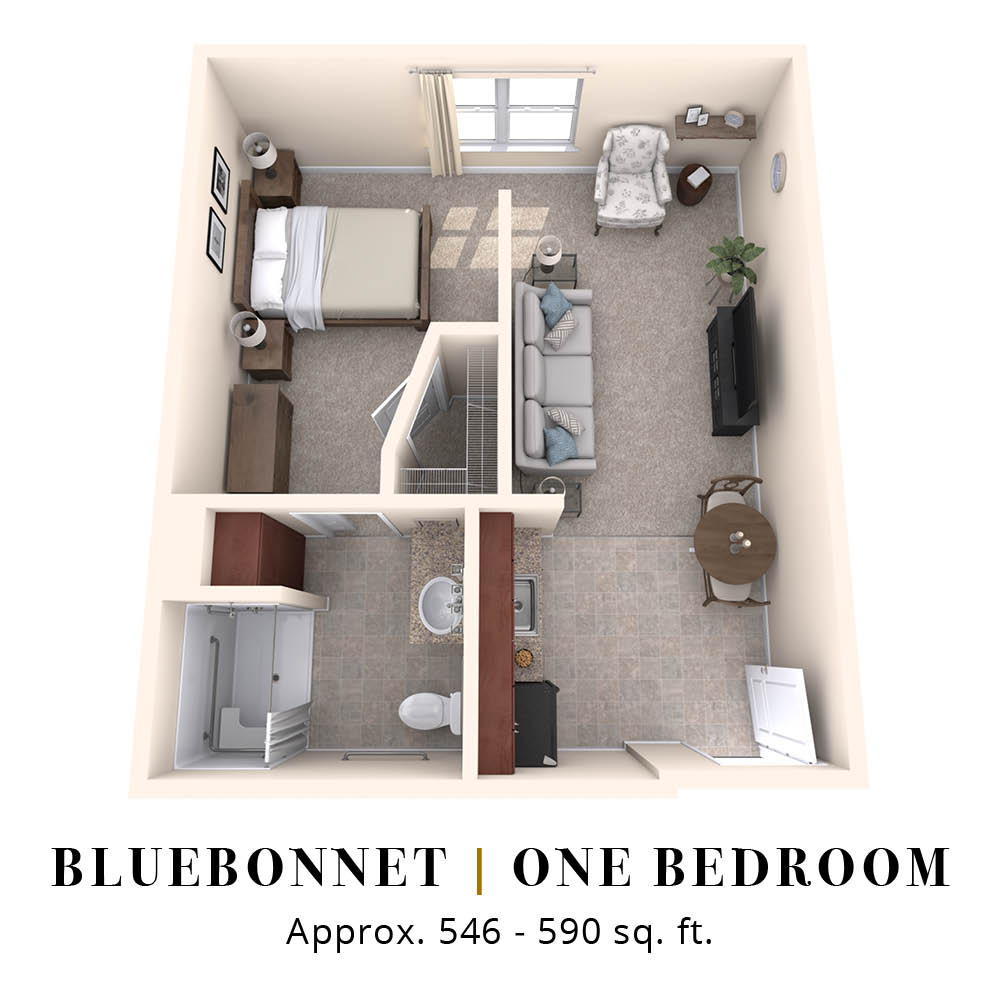 Bluebonnet | One Bedroom