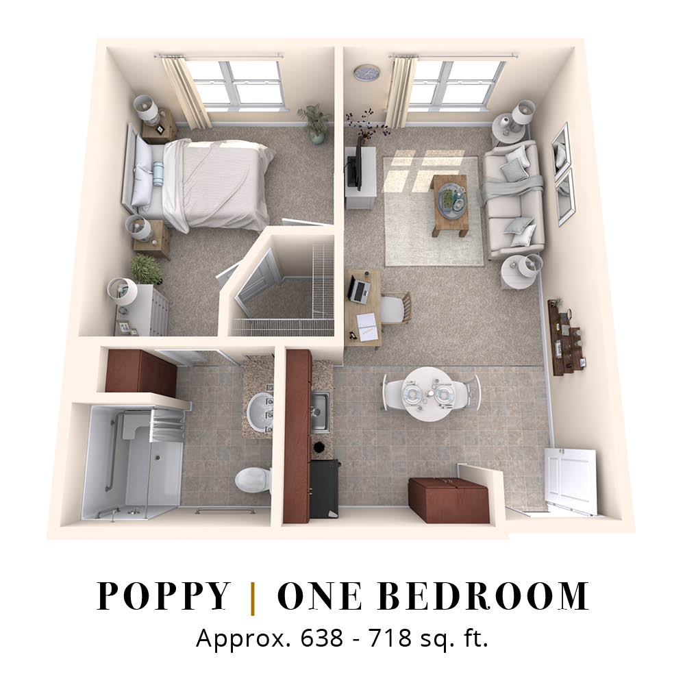 Poppy | One Bedroom