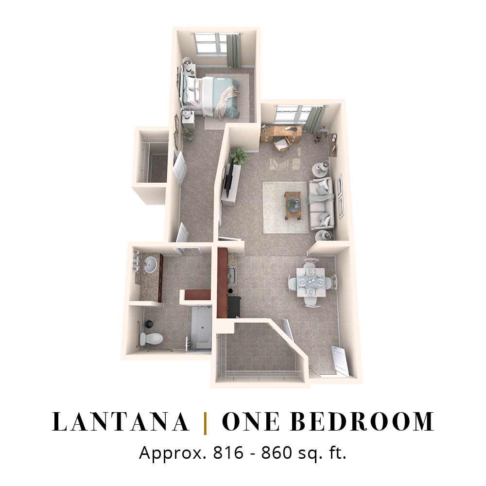 Lantana | One Bedroom