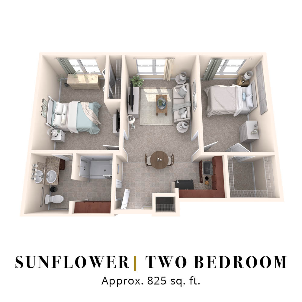 Sunflower | Two Bedroom