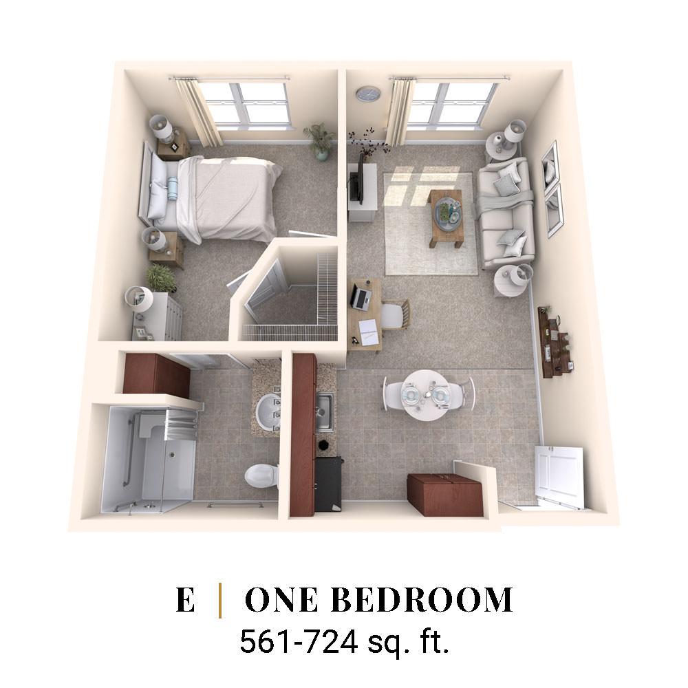E | One Bedroom
