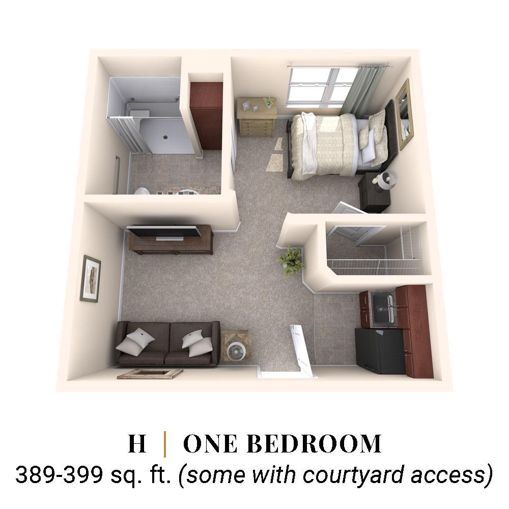 H   One Bedroom