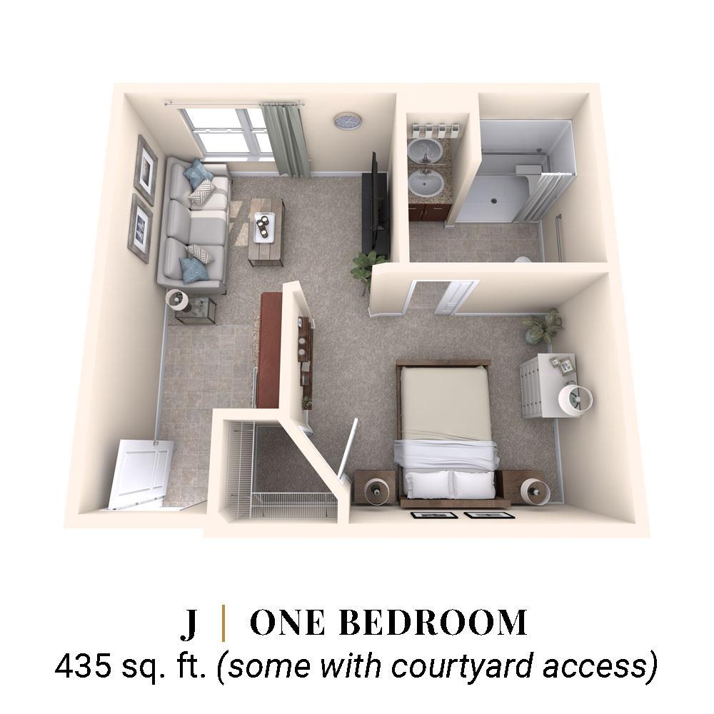 J   One Bedroom