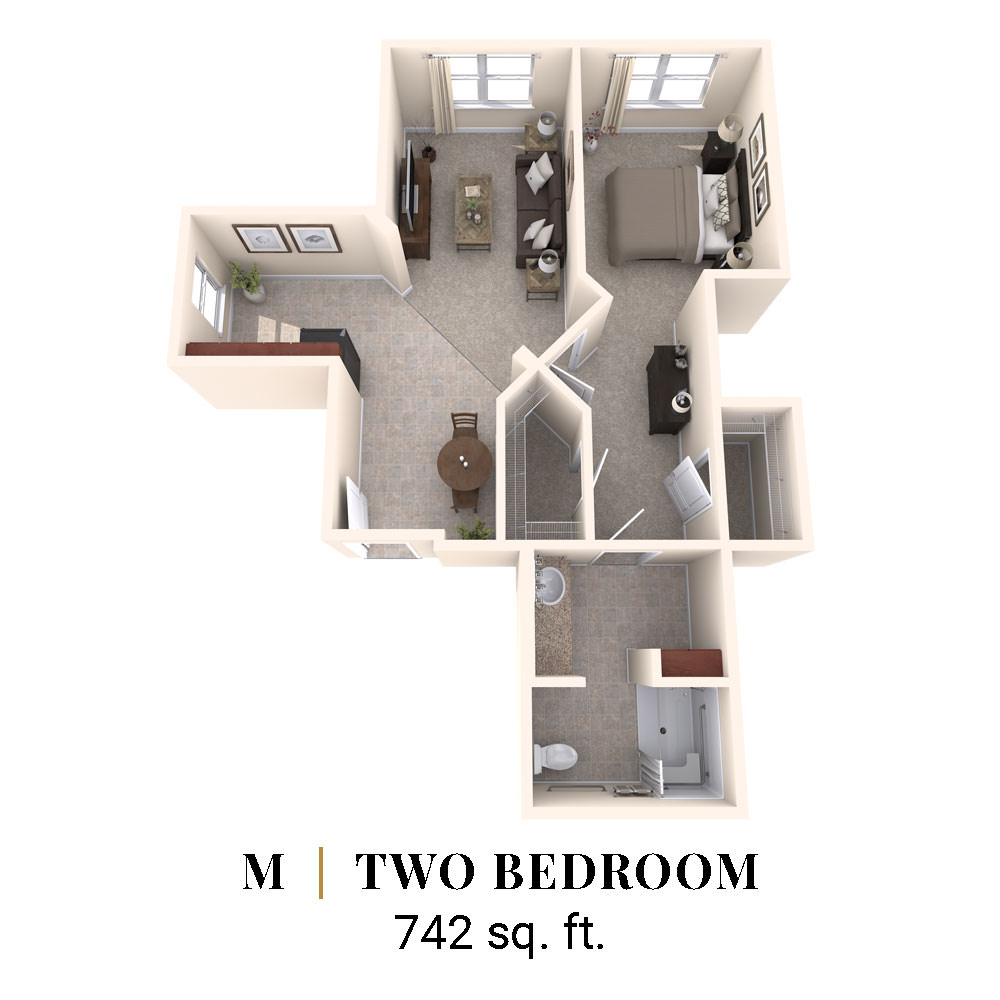 M   Two Bedroom