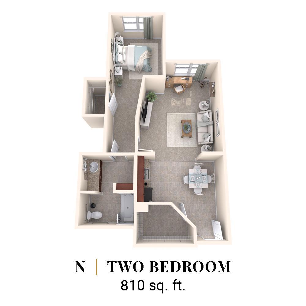 N   Two Bedroom