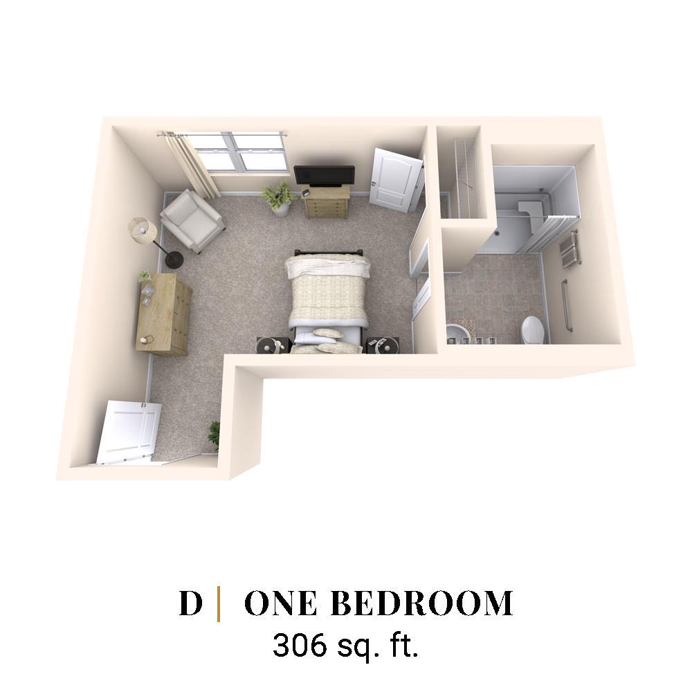 D   One Bedroom