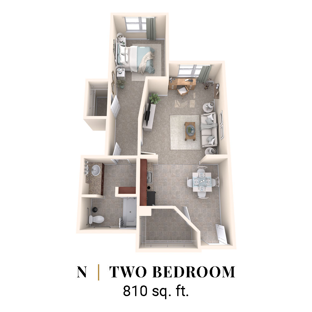 N | Two Bedroom