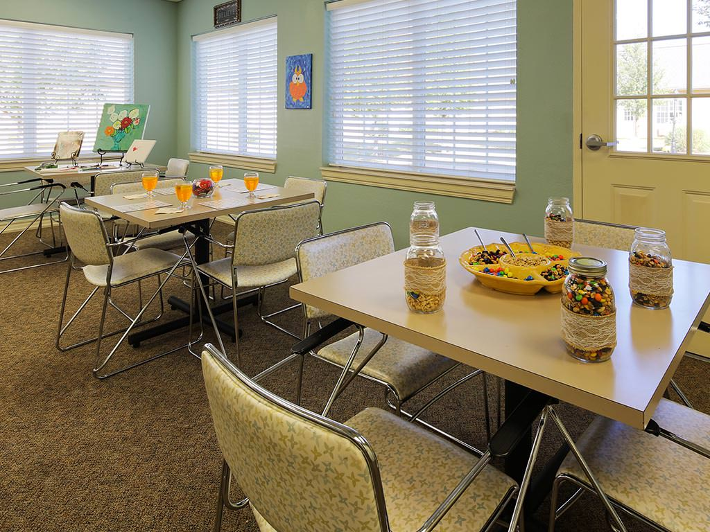 Assisted Living Activity Room and Game Tables
