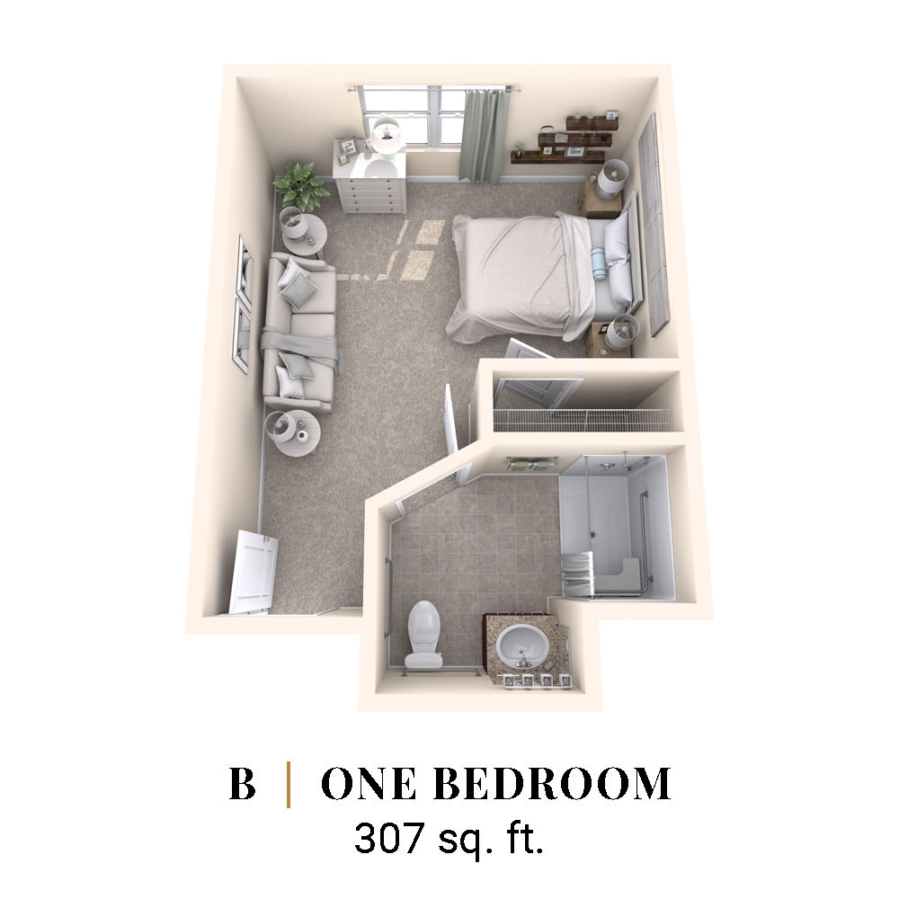 B | One Bedroom