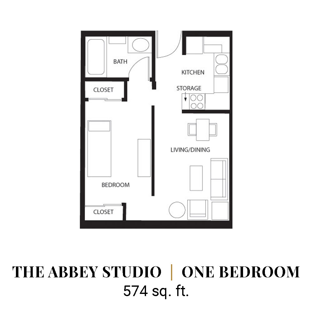 The Abbey Studio | One Bedroom