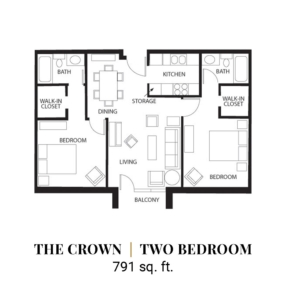 The Crown | Two Bedroom
