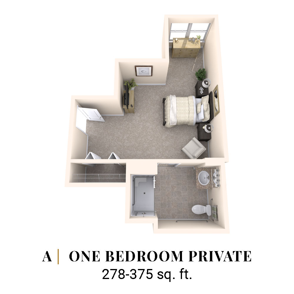 A | One Bedroom Private