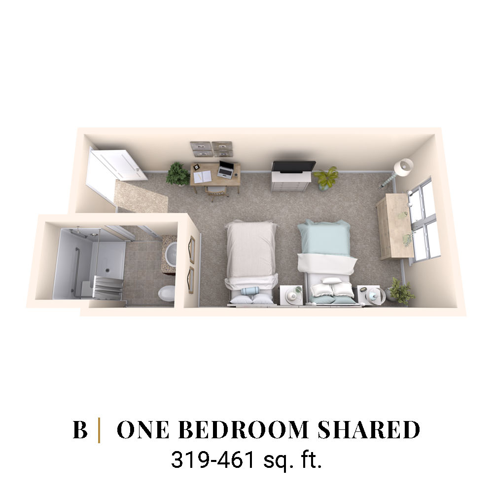 B | One Bedroom Shared