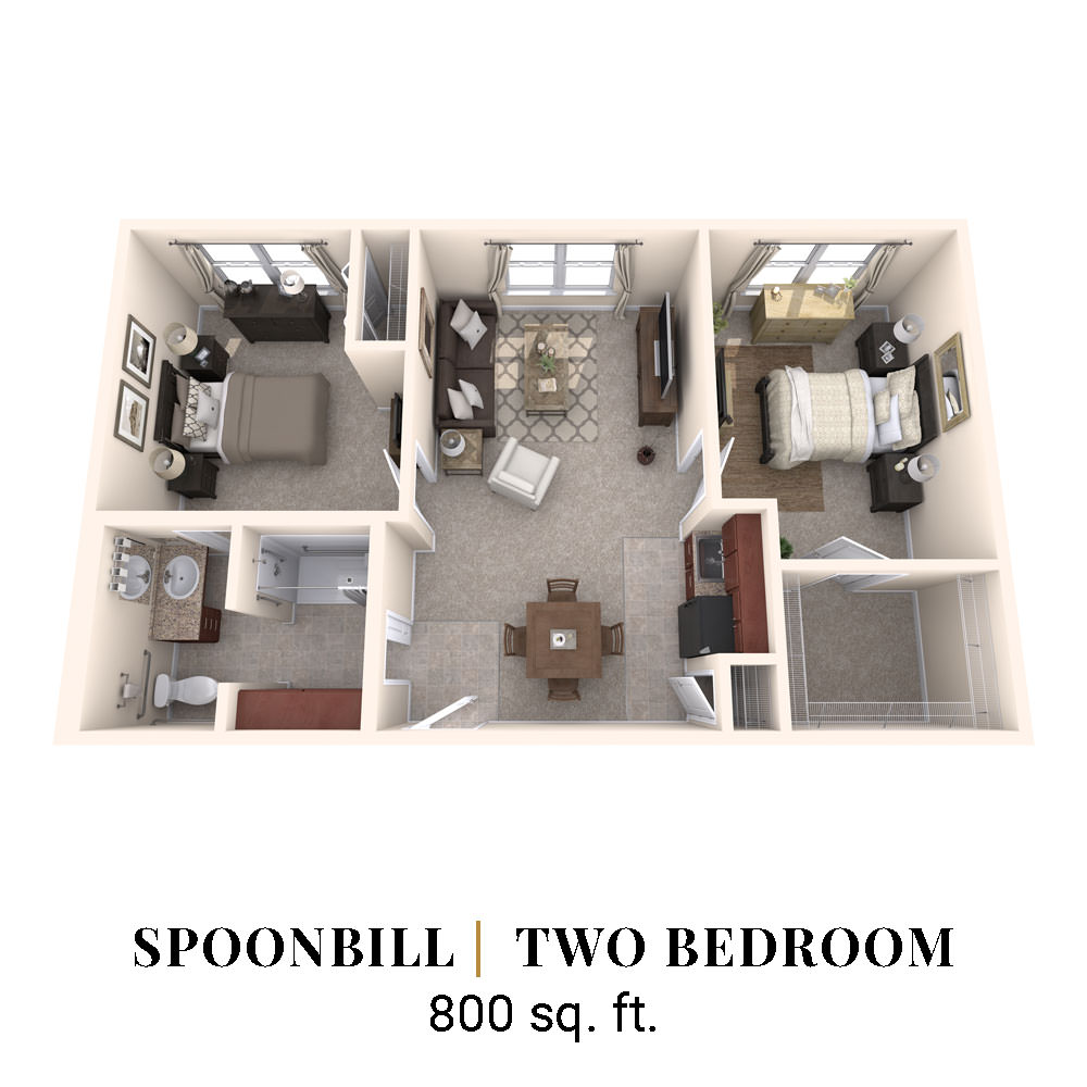 Spoonbill | Two Bedroom