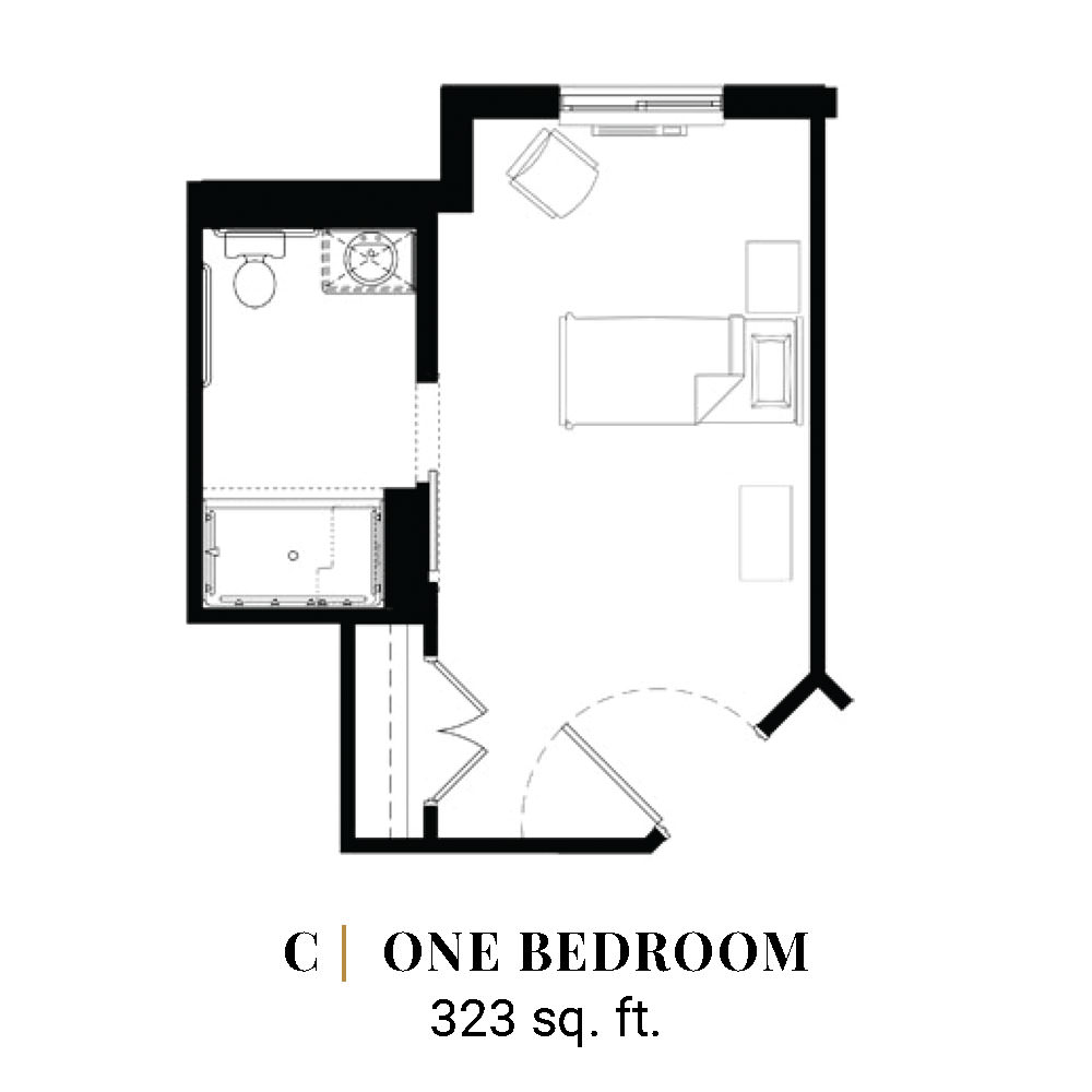 C | One Bedroom