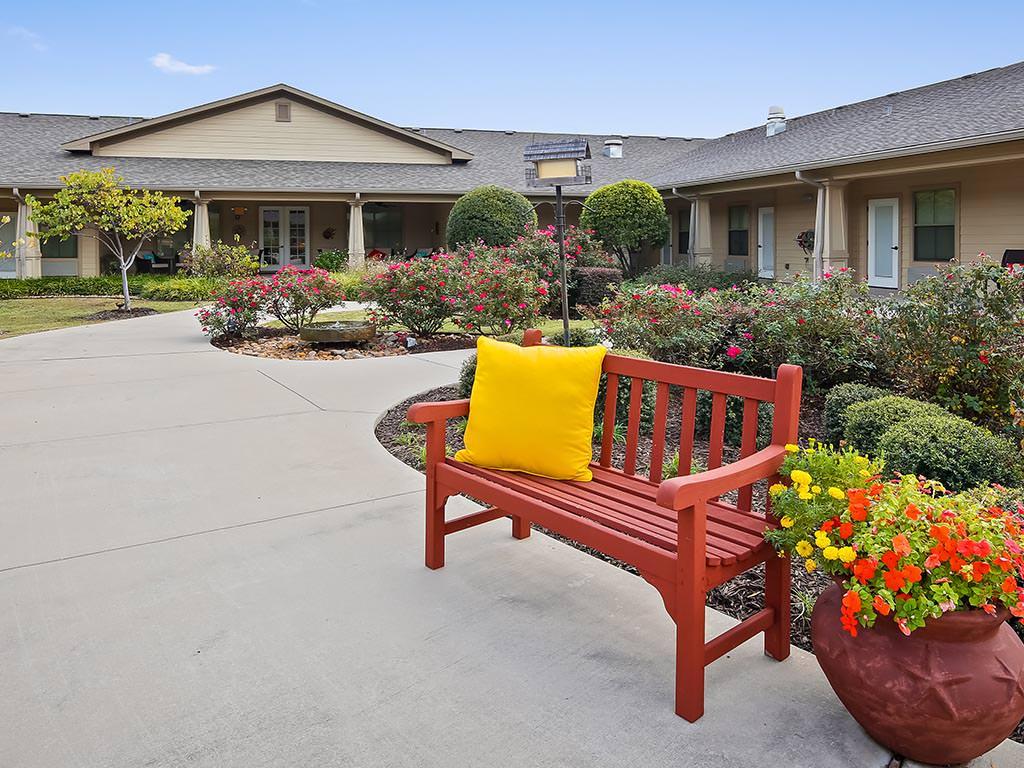 Outdoor Walkway and Garden Area
