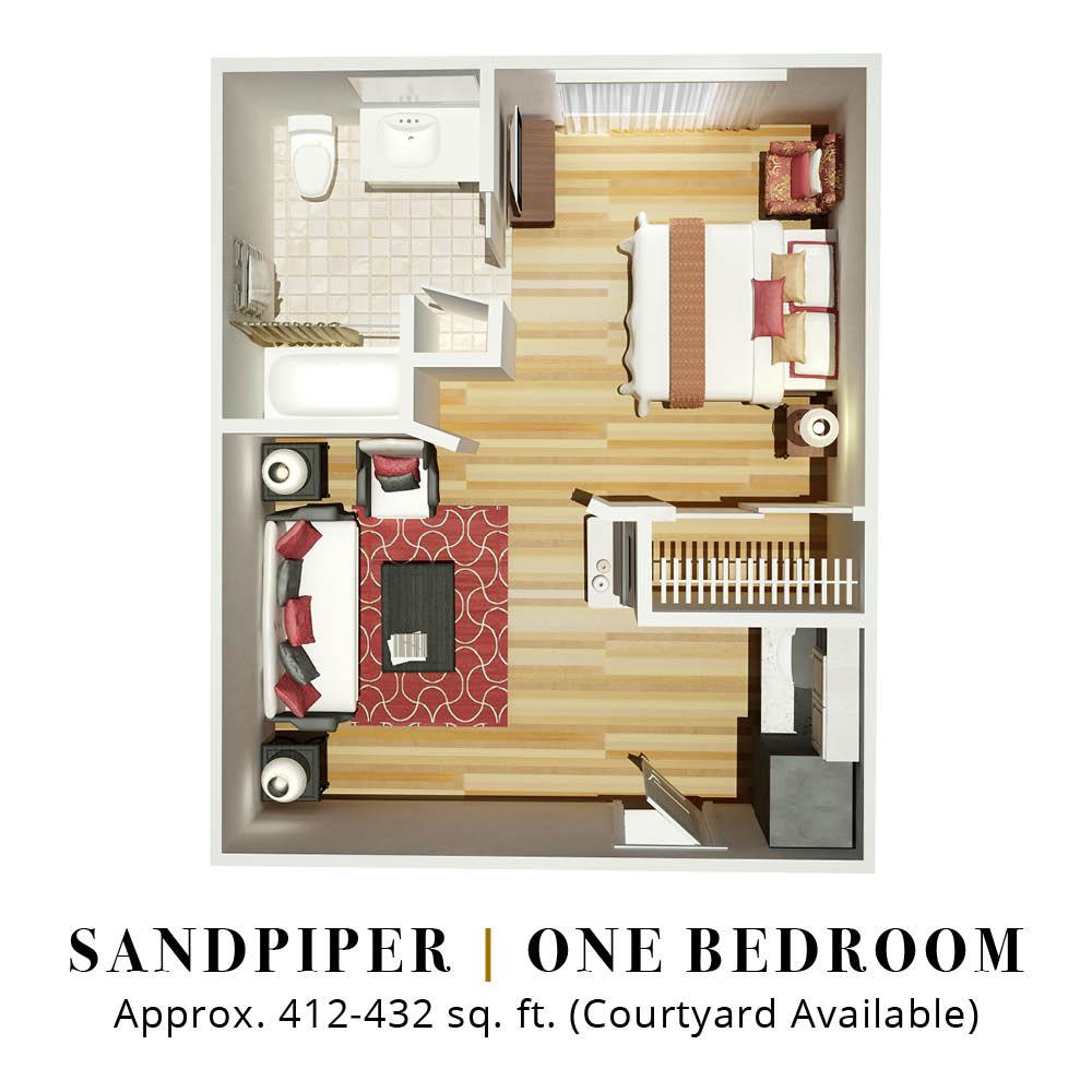 Sandpiper | One Bedroom