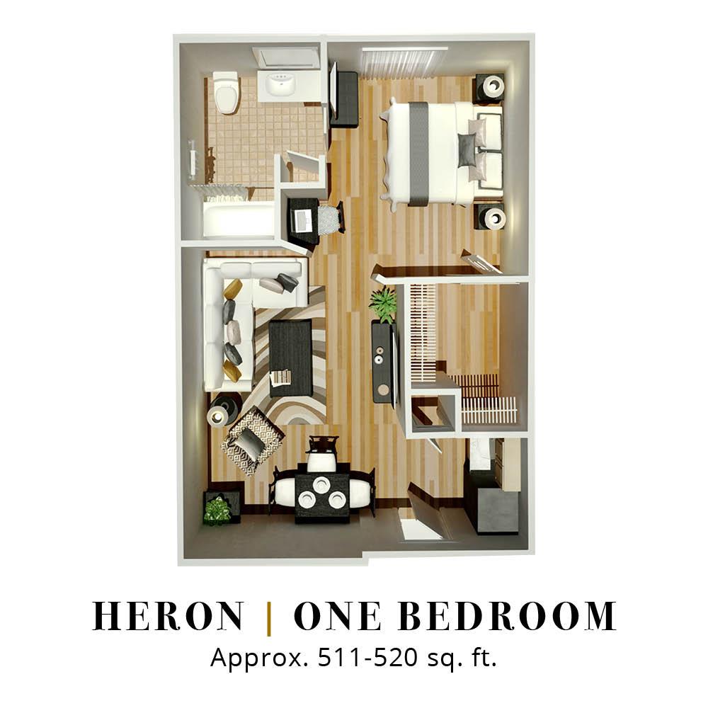 Heron | One Bedroom
