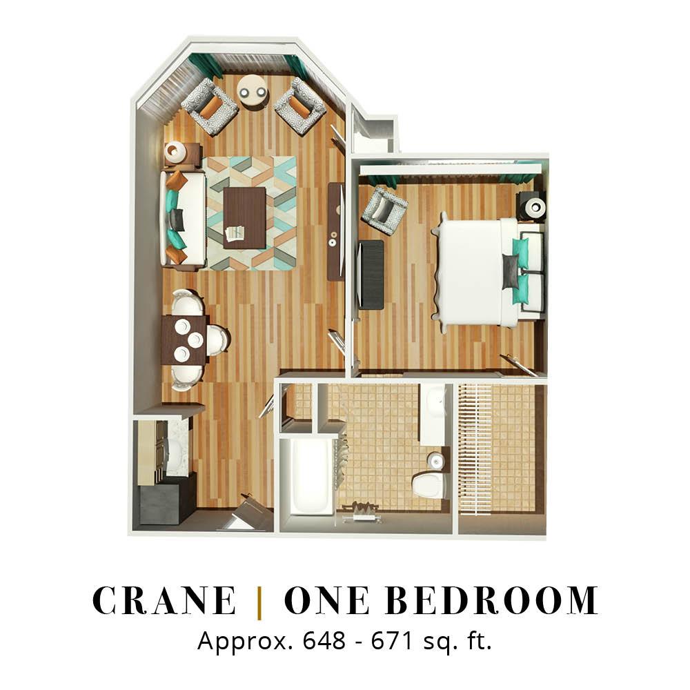 Crane | One Bedroom