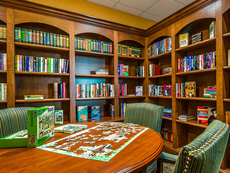 Library with Game Table